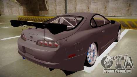 Toyota Supra RZ para GTA San Andreas vista direita