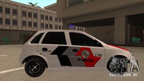 Chevrolet Corsa VHC PM-SP para GTA San Andreas traseira esquerda vista