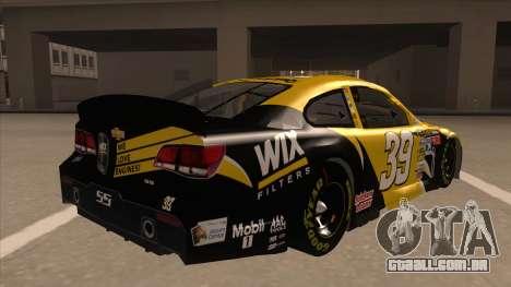 Chevrolet SS NASCAR No. 39  Wix Filters para GTA San Andreas vista direita