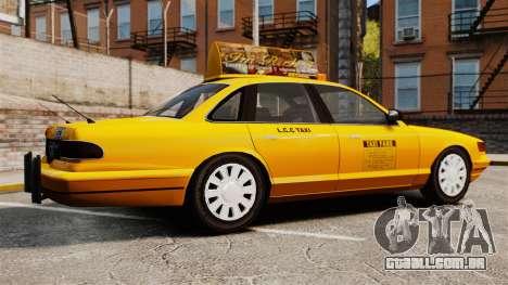 Taxi com novo disco v2 para GTA 4 esquerda vista