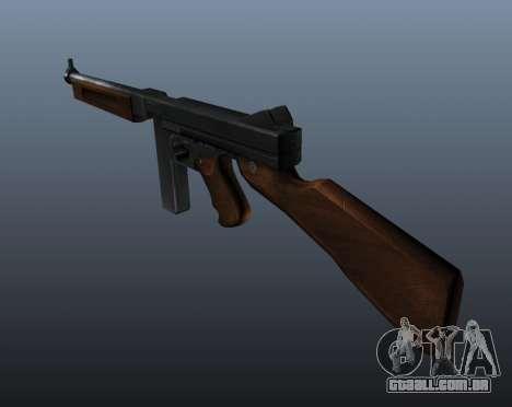 V1 de metralhadora M1a1 Thompson para GTA 4 segundo screenshot