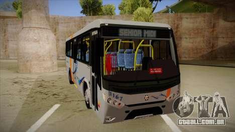 Marcopolo Senior Midi MB OF 1418 Cidade Morena para GTA San Andreas esquerda vista