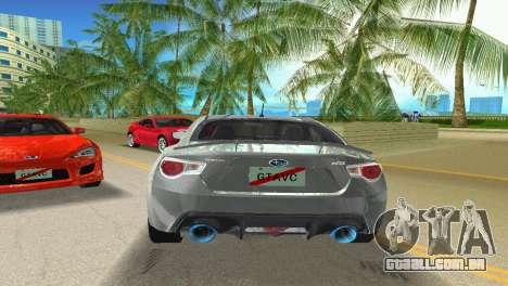 Subaru BRZ Type 3 para GTA Vice City vista direita