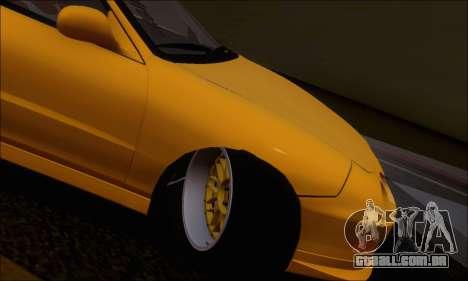 Honda Integra Type-R Hellaflush para GTA San Andreas vista interior