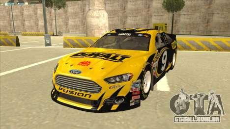 Ford Fusion NASCAR No. 9 Stanley DeWalt para GTA San Andreas