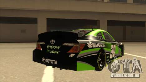 Toyota Camry NASCAR No. 30 Widow Wax para GTA San Andreas vista direita
