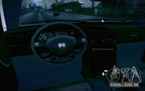 Honda Accord Wagon para GTA San Andreas interior