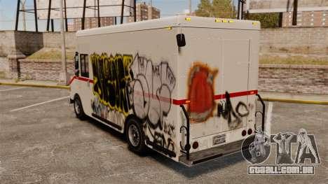 Nova pichação de Boxville para GTA 4 vista direita