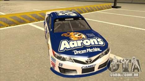 Toyota Camry NASCAR No. 55 Aarons DM white-blue para GTA San Andreas esquerda vista