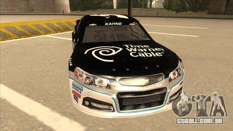 Chevrolet SS NASCAR No. 5 Time Warner Cable para GTA San Andreas esquerda vista