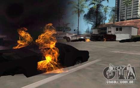 GTA V to SA: Realistic Effects v2.0 para GTA San Andreas segunda tela