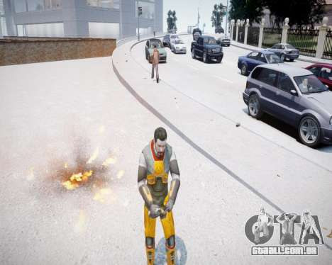 Gordon Freeman para GTA 4 segundo screenshot