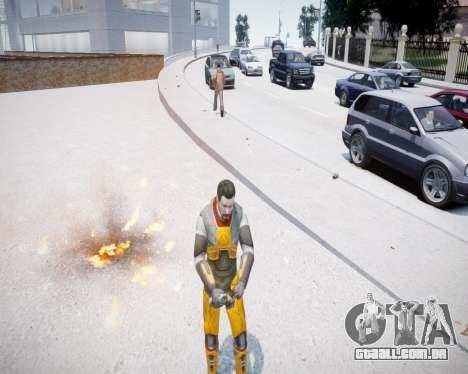 Gordon Freeman para GTA 4 segundo screenshot