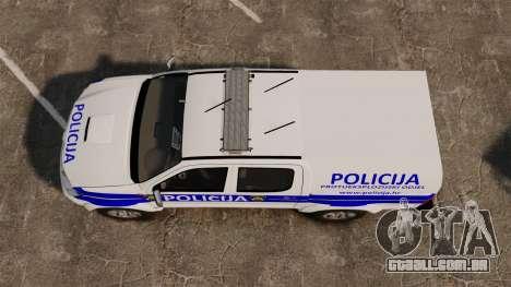 Toyota Hilux Croatian Police v2.0 [ELS] para GTA 4 vista direita