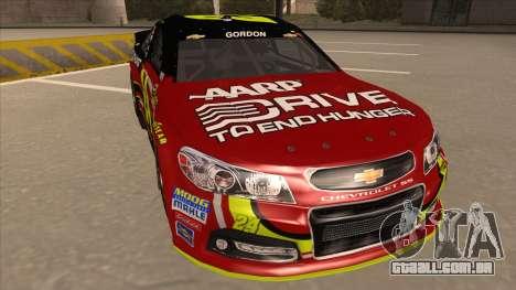 Chevrolet SS NASCAR No. 24 AARP para GTA San Andreas esquerda vista