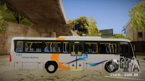 Marcopolo Senior Midi MB OF 1418 Cidade Morena para GTA San Andreas traseira esquerda vista
