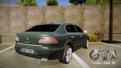 Skoda SuperB 2009 para GTA San Andreas vista direita