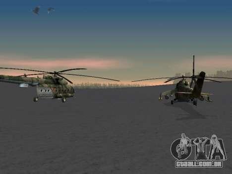MI-8 para GTA San Andreas vista interior