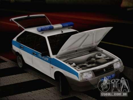 VAZ 2109 PPP para GTA San Andreas vista traseira