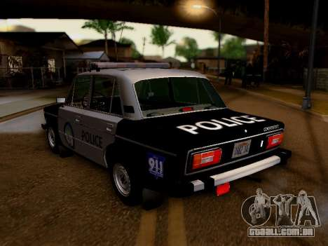 Polícia de Los Santos VAZ 2106 para GTA San Andreas traseira esquerda vista