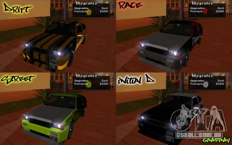 Blista Compact Type R para GTA San Andreas vista inferior