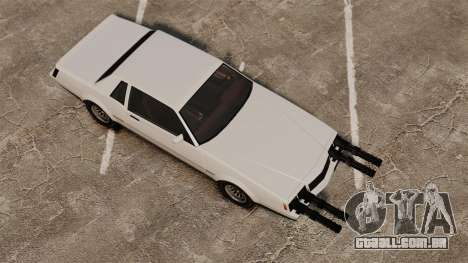 Sabre (c) miniganom para GTA 4 traseira esquerda vista