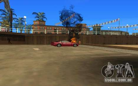 GTA V to SA: Realistic Effects v2.0 para GTA San Andreas por diante tela
