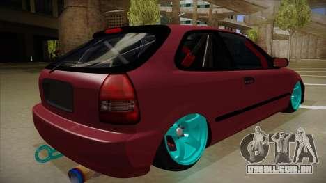 Honda Civic EK9 Drift Edition para GTA San Andreas vista direita