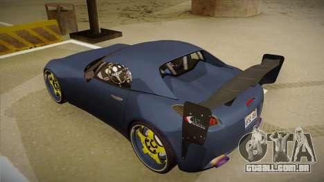 Pontiac Solstice Rhys Millen para GTA San Andreas vista traseira