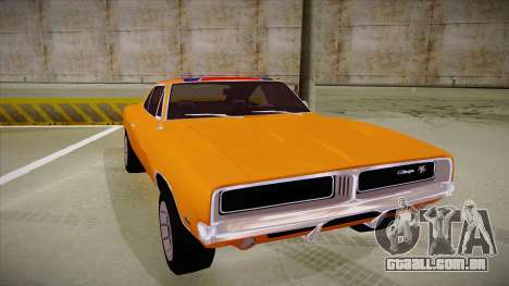 Dodge Charger 1969 (general lee) para GTA San Andreas esquerda vista