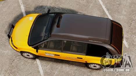 Táxi melhorada para GTA 4 vista direita