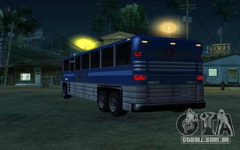 New Coach para GTA San Andreas vista direita