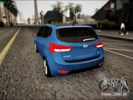 Hyundai ix20 para GTA San Andreas traseira esquerda vista