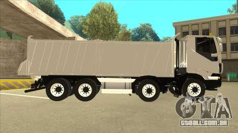 Oi-terra caminhão Iveco para GTA San Andreas traseira esquerda vista