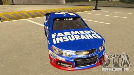 Chevrolet SS NASCAR No. 5 Farmers Insurance para GTA San Andreas esquerda vista