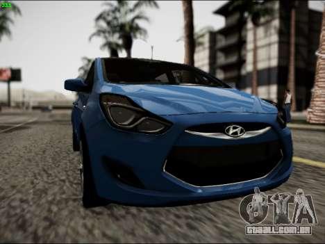 Hyundai ix20 para GTA San Andreas vista traseira