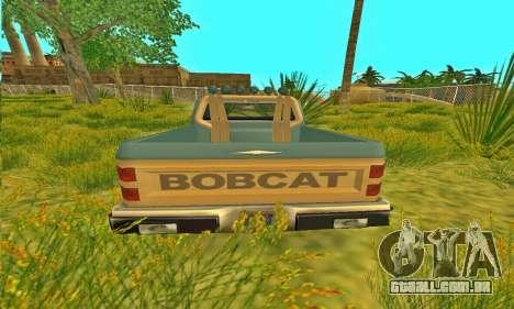 Bobcat armadura Off-Road para GTA San Andreas vista traseira