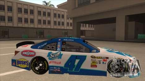 Toyota Camry NASCAR No. 47 Scott para GTA San Andreas traseira esquerda vista