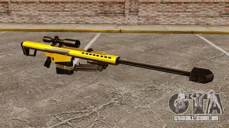 O Barrett M82 sniper rifle v3 para GTA 4
