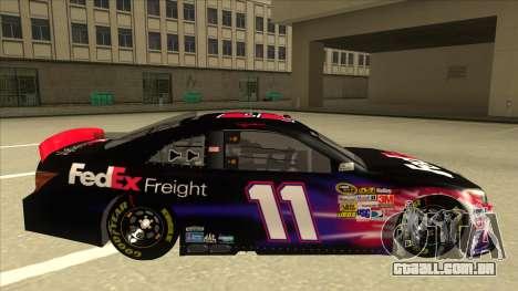 Toyota Camry NASCAR No. 11 FedEx Freight para GTA San Andreas traseira esquerda vista