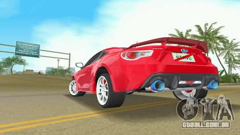 Subaru BRZ Type 3 para GTA Vice City vista traseira