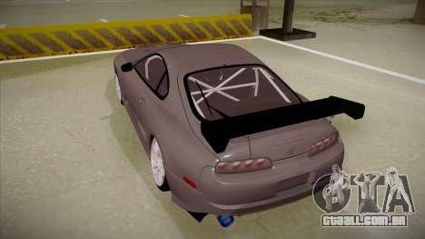 Toyota Supra RZ para GTA San Andreas vista traseira