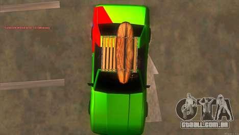 Elegy New Year for JDM para GTA San Andreas vista superior