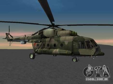 MI-8 para GTA San Andreas traseira esquerda vista