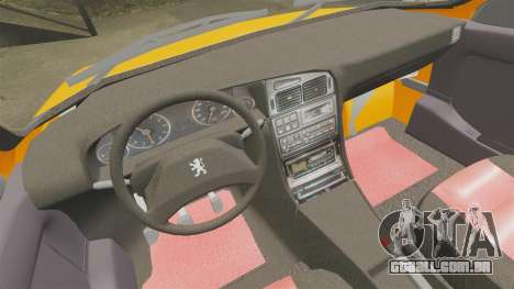 Peugeot 405 GLX Taxi para GTA 4 vista lateral