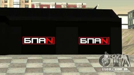 A garagem em Doherty BPAN para GTA San Andreas por diante tela