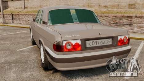 Volga GAZ-3110 Coupe para GTA 4 traseira esquerda vista