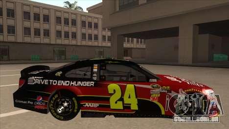 Chevrolet SS NASCAR No. 24 AARP para GTA San Andreas traseira esquerda vista