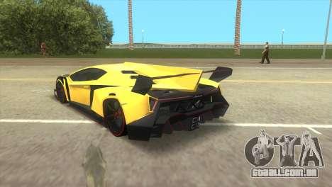 Lamborghini Veneno para GTA Vice City deixou vista