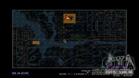Mapa das praças para GTA San Andreas